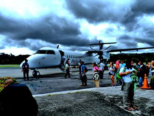 arriving at Basco Airport